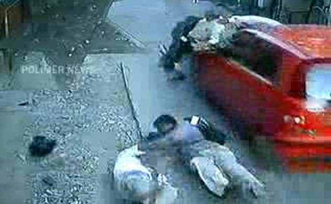 Caught On Camera Chennai Car Hurtles Pedestrians Into Air Two Dead