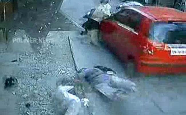 On Camera Chennai Car Hurtles Pedestrians Into Air Two Dead