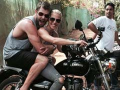 Bullet <i>Raja</i> and <i>Rani:</i> Thor Rides Pillion With His Wife in India