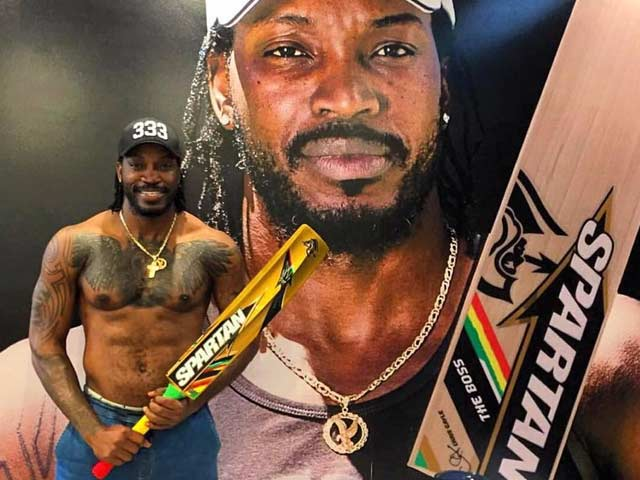 Chris Gayle-Signed Golden Bat Bowls Over Amitabh Bachchan