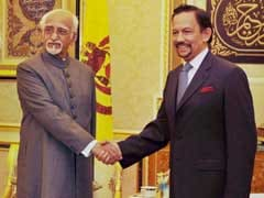 Hamid Ansari Concludes 3-Day Visit To Brunei, Leaves For Thailand