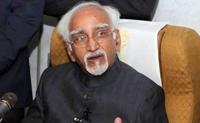 Vice President Hamid Ansari Says Pakistan Differentiates Between 'Good' And 'Bad' Terrorists