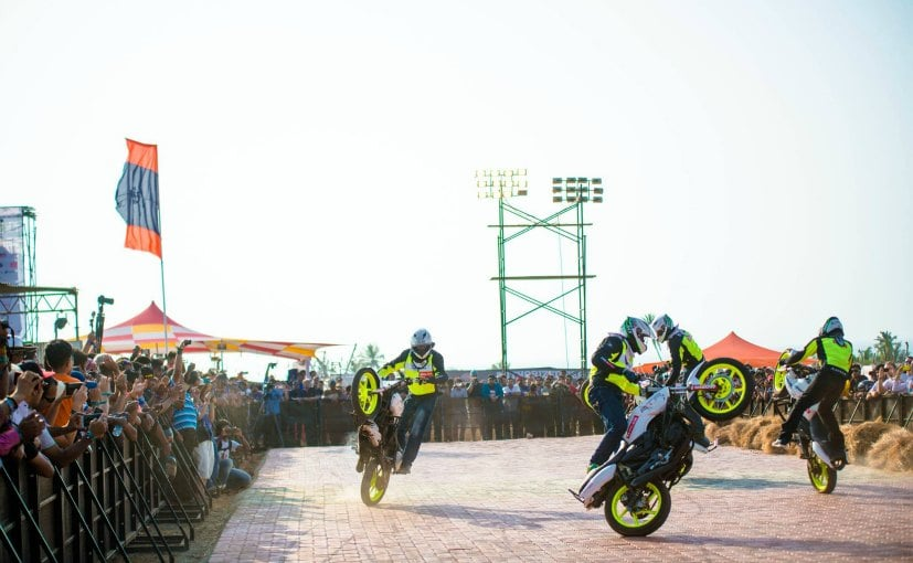 India Bike Week Stunts
