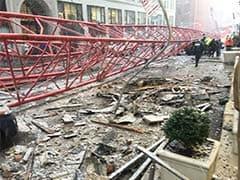 न्यूयॉर्क के मैनहट्टन में निर्माण कार्य में लगी क्रेन गिरी, कई कारें दबीं