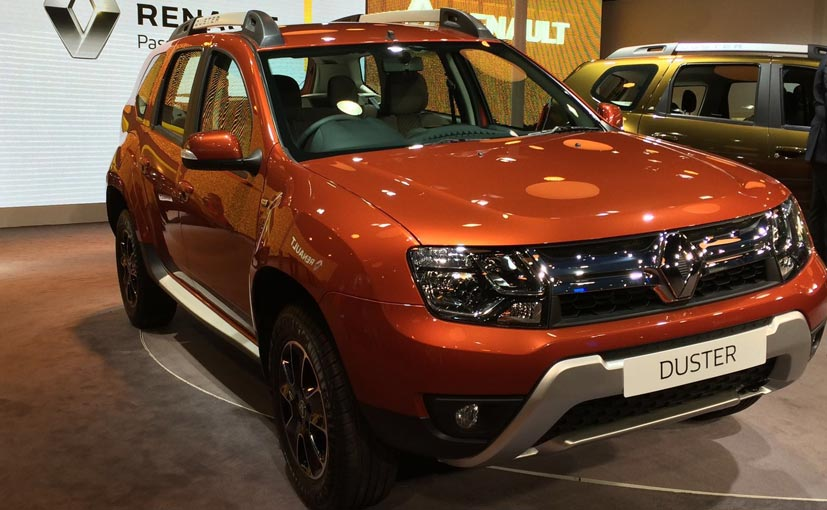 auto expo 2016 new renault duster amt revealed ndtv carandbike. Black Bedroom Furniture Sets. Home Design Ideas