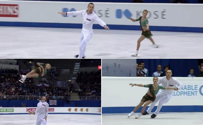 Russian Skaters Perform to Deepika, Ranveer's Dhol Baje. Be Amazed