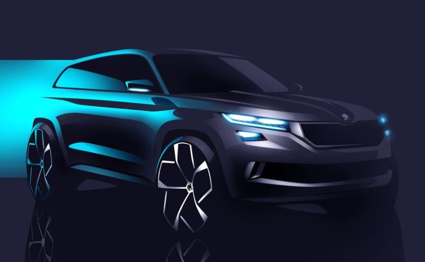 skoda vision s concept teased again to be unveiled on march 1 ndtv carandbike. Black Bedroom Furniture Sets. Home Design Ideas