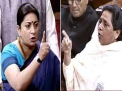 'Who Uses A Child As A Political Tool?': Smriti Irani vs Mayawati In Rajya Sabha