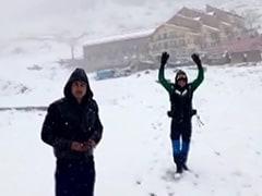 मौसम का बदला मिजाज : उत्तराखंड में बर्फबारी के साथ बदल गया माहौल