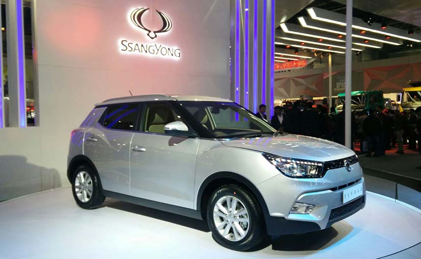 SsangYong Tivoli Compact SUV Spotted Testing in India