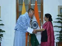 Sushma Swaraj Holds Talks With Bhutan Prime Minister Tshering Tobgay