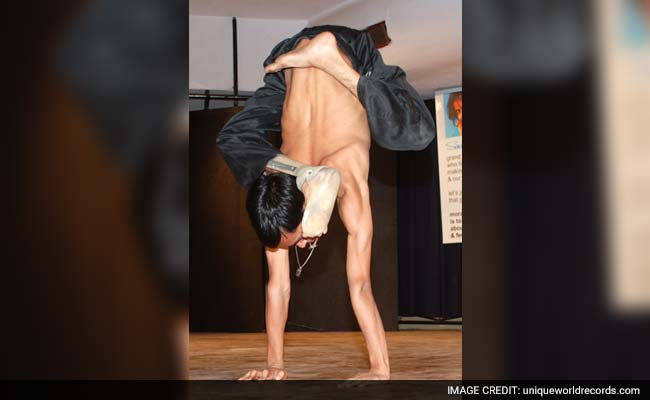Delhi Student With Disability Recognised As Most Flexible Yoga Champion