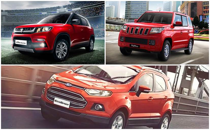 Maruti Suzuki Vitara Brezza Vs Ford EcoSport Vs Mahindra TUV300:  Specification Comparison