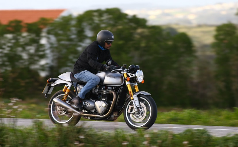 2016 triumph thruxton r first ride review - ndtv carandbike