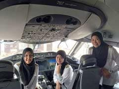 An All-Female Crew Lands A Plane In Saudi Arabia. But They Can't Drive From The Airport