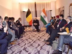 PM Narendra Modi Meets Indian Diamond Traders From Antwerp