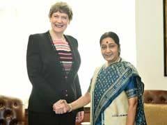 Sushma Swaraj, UNDP Chief Discuss Sustainable Development Goals
