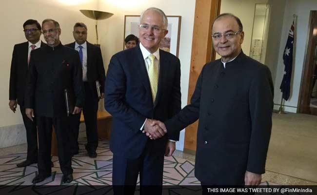 Arun Jaitley Meets Australian PM Malcolm Turnbull, Talks Trade