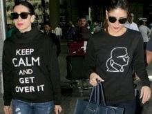 Kareena Kapoor Khan and Karisma at the Airport. Spot the Difference