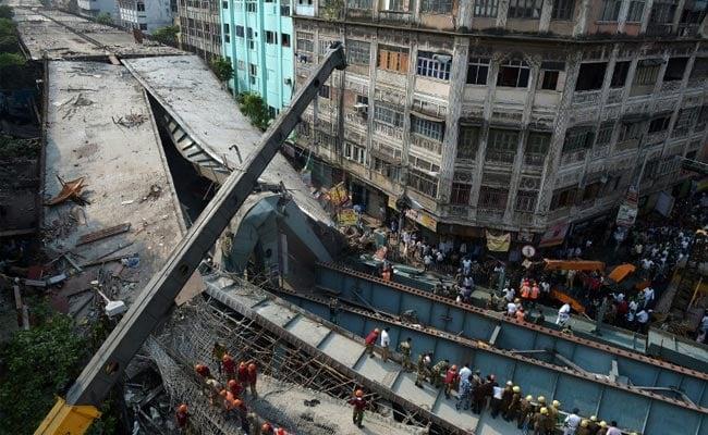 140-Tonne Crane Fails To Lift Collapsed Kolkata Flyover