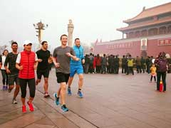 Mark Zuckeberg's Jog - Without Mask - In Smoggy Beijing
