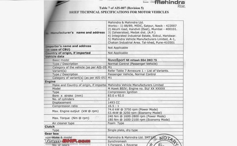 NuvoSport Spec Sheet