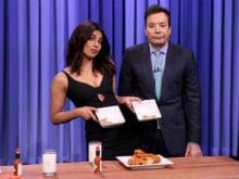 Priyanka Chopra vs Jimmy Fallon in Hilarious Chicken Wing Eat-Off