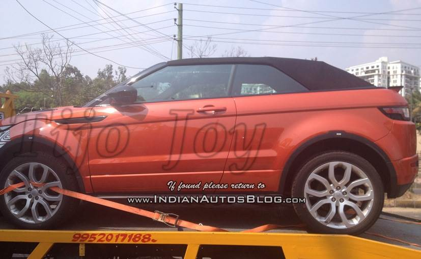 land rover range rover evoque convertible spotted in india ndtv carandbike. Black Bedroom Furniture Sets. Home Design Ideas