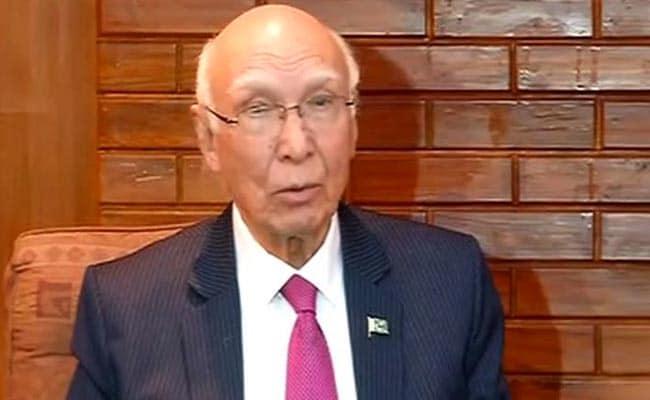 Verdict On Future Of Kashmir Only By Kashmiri People: Sartaj Aziz