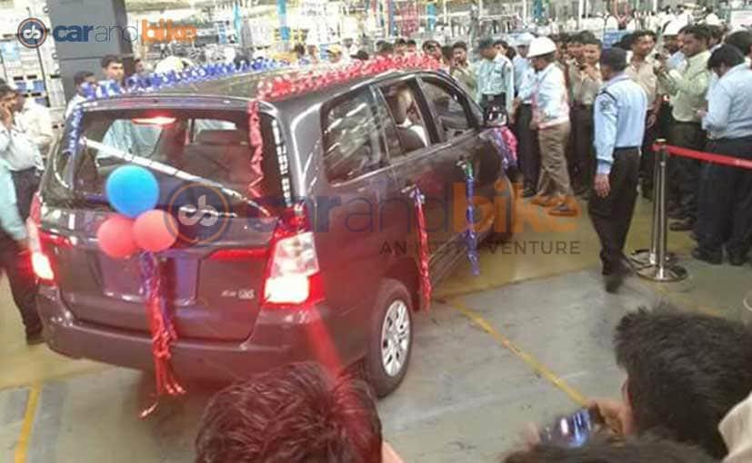 Toyota Innova Production Bidadi Plant