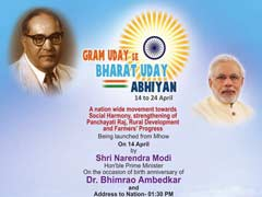 PM Modi To Launch Rural Uplift Campaign At Dr Ambedkar Birthplace