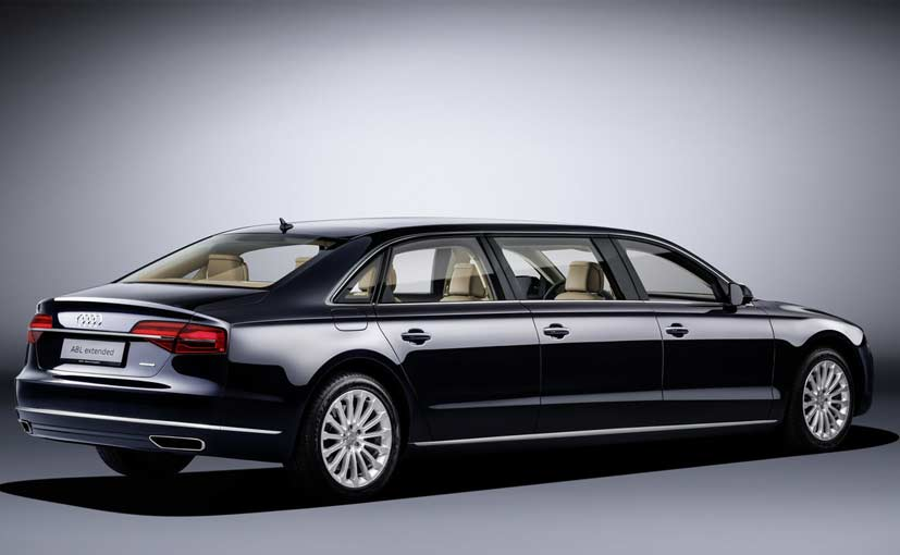 Audi A8 L Extended Revealed Comes With Six Doors Ndtv Carandbike