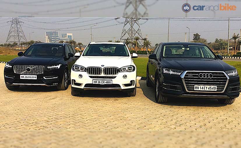 Comparison Review: Audi Q7 vs BMW X5 vs Volvo XC90 - NDTV ...