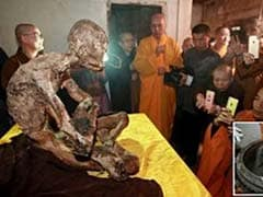 Revered Chinese Monk Mummified And Covered In Gold Leaf