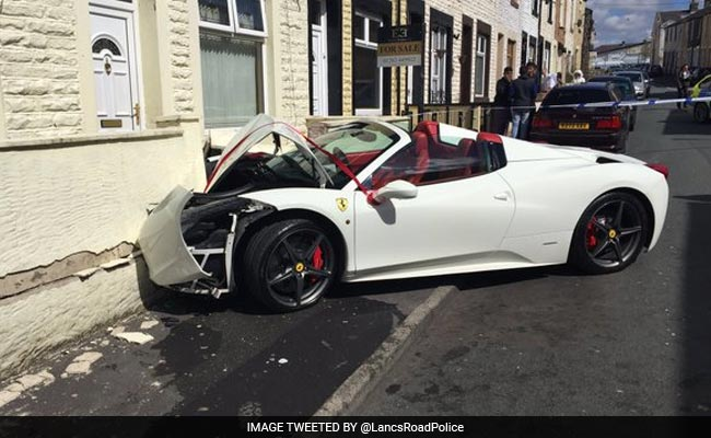 Look Away Now. Newly-Wed Couple Crashes Rented Ferrari Worth 240,000 Pounds