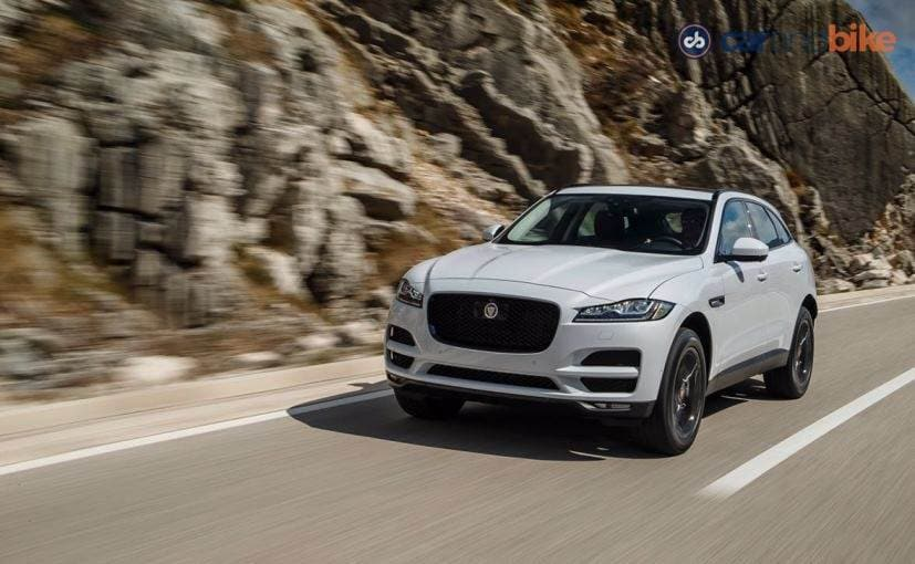 Jaguar F-Pace on highway