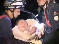 Baby Rescued After Strong Earthquakes Hit Japan