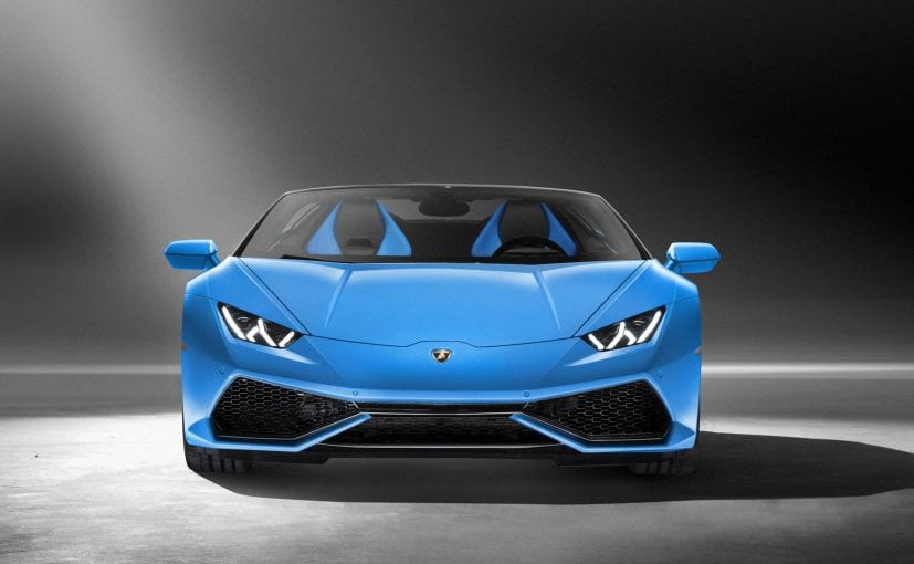 lamborghini huracan spyder launch date for india announced features specs and expected price. Black Bedroom Furniture Sets. Home Design Ideas