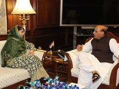 Mehbooba Mufti Briefs Rajnath Singh On Security Situation In Kashmir