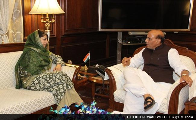Mehbooba Mufti Briefs Rajnath Singh On Security Situation In Kashmir
