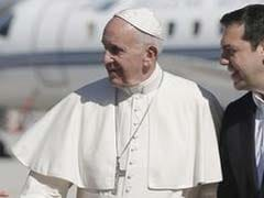 Pope Francis Visits Frontline Of Europe's Migrant Crisis