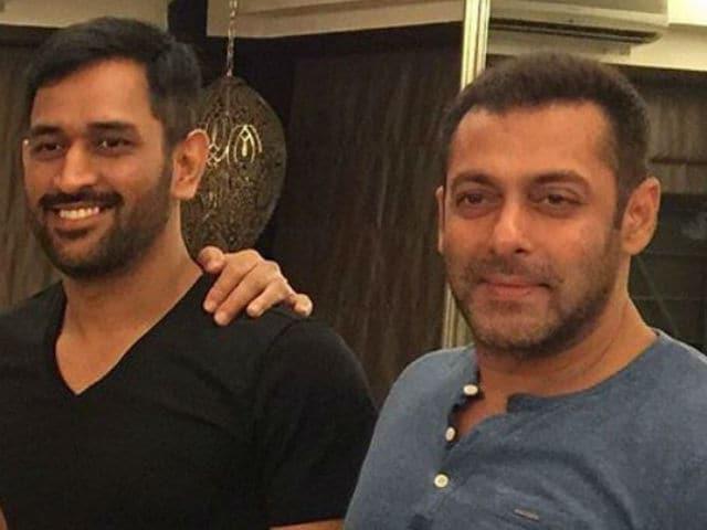 When Mahendra Singh Dhoni Met Salman Khan at His Bandra Home