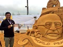 Padma Awardee Sudarsan Pattnaik Wins Gold In Sand Art Contest In Russia