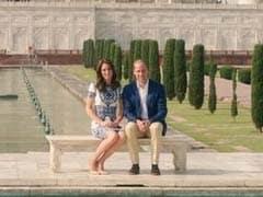 ताजमहल पहुंचे ब्रिटेन के शाही दंपत्ति विलियम और केट मिडिलटन