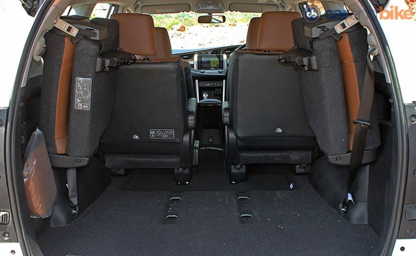Toyota Innova Crysta Boot Space