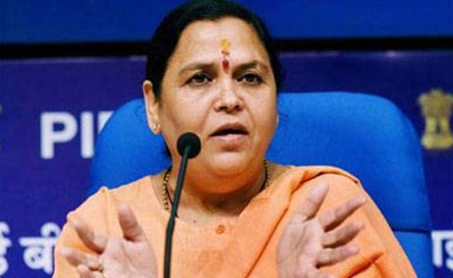 BJP's Uma Bharti Says She Will Not Contest Elections In Future