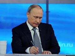 Vladimir Putin Says He Shares Russians' Pain Over Economic Hardship