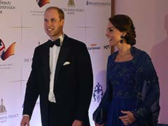 Kate Middleton Picks Royal Blue Gown With <i>Desi</i> Twist For Bollywood Gala