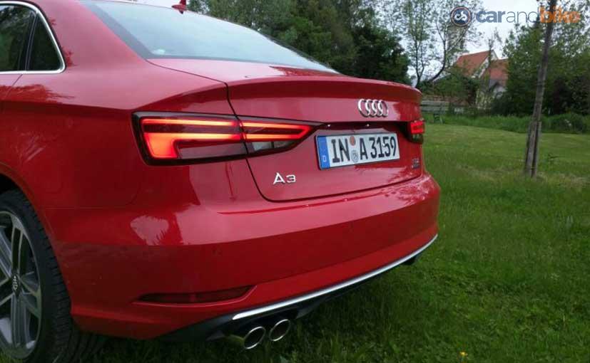 2017 Audi A3 Facelift Rear Profile