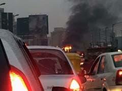 Car Catches Fire In Bengaluru, Causes Major Traffic Jam